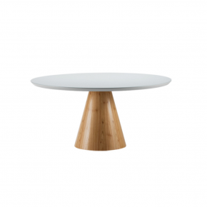 Mesa de Jantar Bianca 120 Natural com Off White