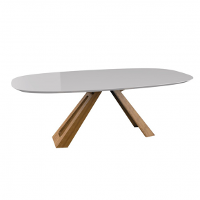 Mesa de Jantar Cris 160x90 Natural com Off White
