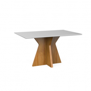 Mesa de Jantar Star (Retangular) 160x90 Natural com Off White